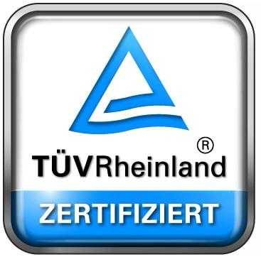 Das Siegel des TÜV Rheinland steht für Vertrauen und Verlässlichkeit