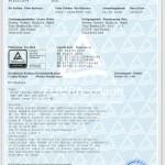 Das TÜV-Zertifikat der POWER KOMBI MODULE GmbH