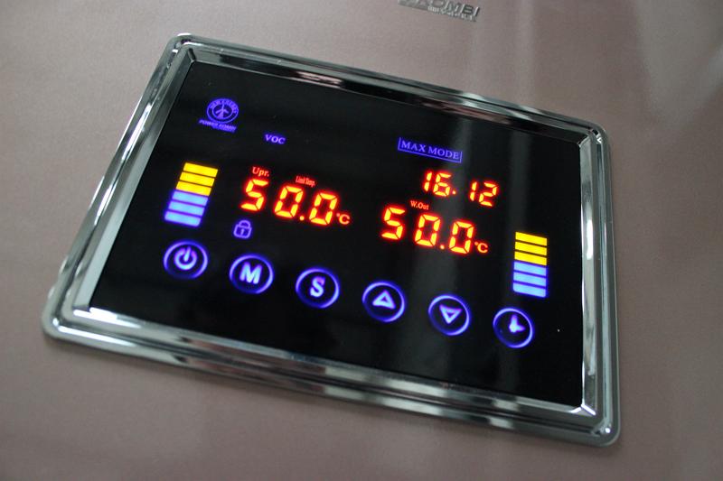 Der Wärmepumpe-Solarboiler eingestellt auf 50° C