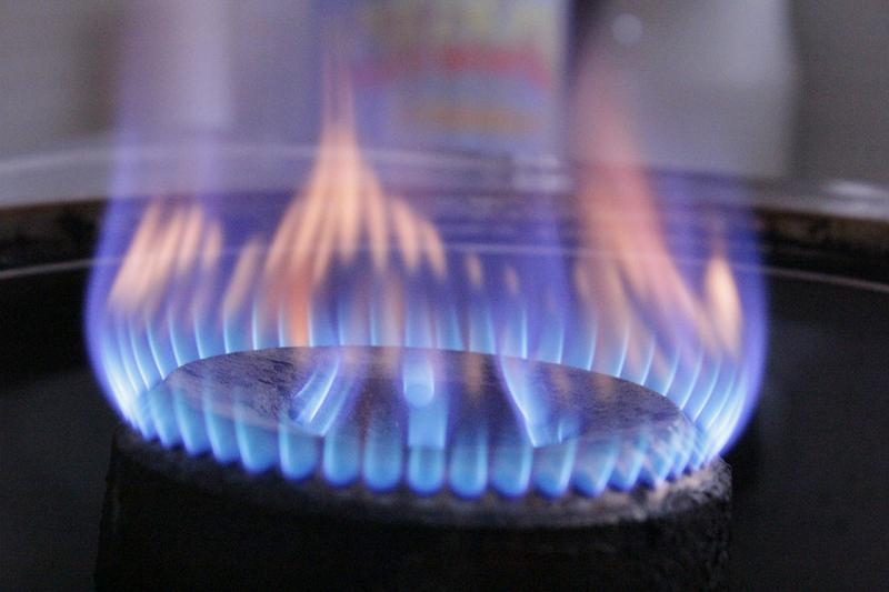 Gas erhitzt schneller als ein Herd