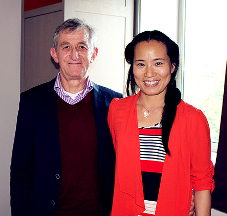 Math van den Bosch und Qingru Shu