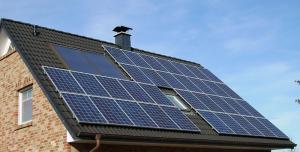 Photovoltaikmodule auf dem Hausdach